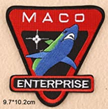 Star Trek Enterprise TV Series MACO Commandos Shark Logo 3D Tactical Military Badges Embroidered Patch Back with Loop and Hook