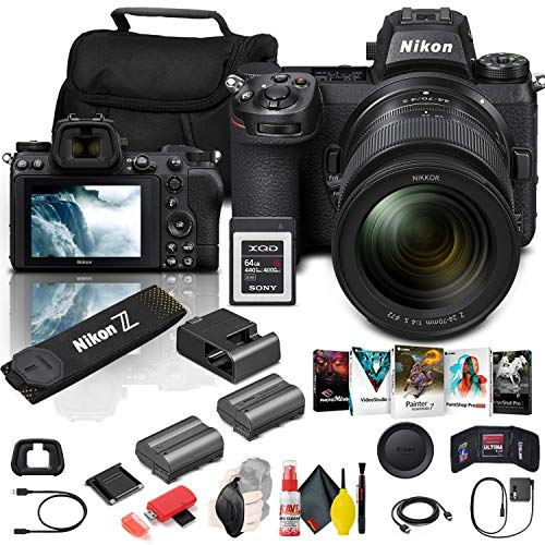 Nikon Z 6II Mirrorless Digital Camera 24.5MP with 24-70mm f/4 Lens (1663) + 64GB XQD Card + ENEL15c Battery + Corel Software + Case + Cleaning Set + More - International Model (Renewed) -  1663_EDI_1RE