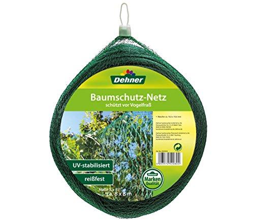 Dehner Baumschutz-Netz zum Schutz vor Vogelfraß, ca. 8 x 8 m, Kunststoff, grün