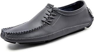 GanQuan2018 Men's Oxfords Summer Breathable Anti-Slip Urban White Grey Driving Peas Shoes