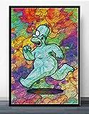 LDTSWES Simpsons Anime Jigsaw Puzzles, Rompecabezas de ensamblaje de Madera de 1000 Piezas, para Adolescentes Adultos Memorial Gifts Juegos Juegos Puzzle