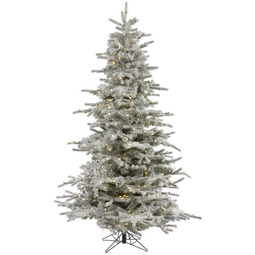 Vickerman 75' Flocked Sierra Artificial Christmas Tree with 750 Warm White LED Lights