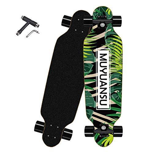 Skateboard, kleines Komplett Board mit ABEC-9 Kugellagern und Aluminium Achsen - Holzboard - Coole Designs für Kinder und Jugendliche - Cruiser Boards für Mädchen und Jungen,Bronze