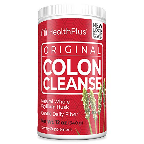 Health Plus Colon Cleanse - Natural Daily Fiber - Gluten Free, Detox, Heart Healthy (12 Ounces, 48 Servings)