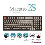 ARCHISS Maestro 2S AS-KBM02/LRGBA CHERRY MX 赤軸 テンキーレスサイズなのにフルキーボード