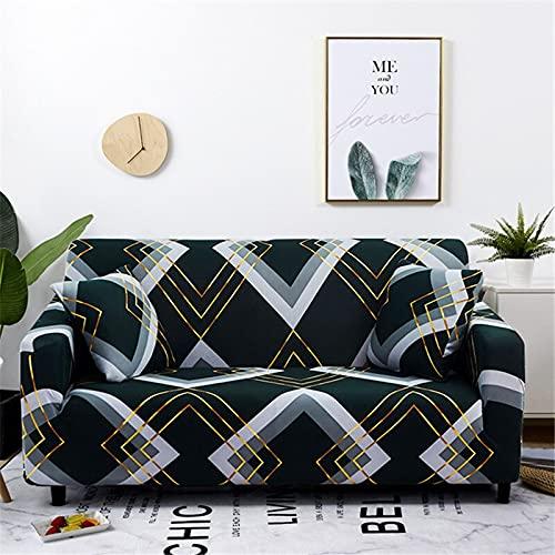 WXQY Sofabezug Moderner elastischer Sofabezug Wohnzimmer-Anschnittecke L-förmiger Stuhlschutz Couchbezug A18 3-Sitzer