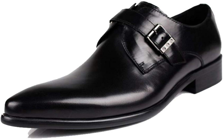 YCGCM Män, Män, Män, läderskor, England, Pointed, Buckle, Mode, Business, Comfort  fabriksförsäljning