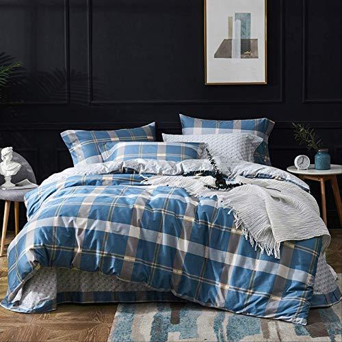 jinda Four-piece Long-staple Cotton Feather Quilt Cover Sheet Set 220 * 240cm (60 satin four-piece set) Visno