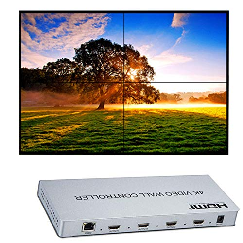 4K Videowand Controller 1 HDMI/DVI-Eingang 4 HDMI-Ausgang 1x2,1x4,2x2,Bilder n?Hen 4 Fernsehger?t zeigt EIN Bildschirm-Splicing