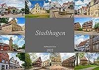 Stadthagen Impressionen (Wandkalender 2022 DIN A2 quer): Eine Fotowanderung durch Stadthagen (Monatskalender, 14 Seiten )