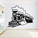 yaonuli Zug wandaufkleber Junge Raum lokomotive Vinyl Aufkleber Kindergarten Schlafzimmer Dekoration wandhaupt Dekoration wandaufkleber 55x102 cm