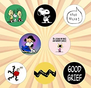 Peanuts C Set of 8 - 1 Inch Pinback Buttons