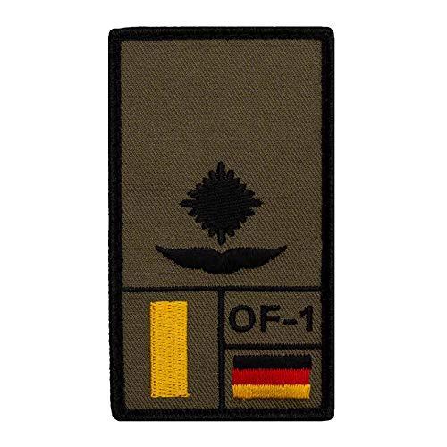 Café Viereck ® Leutnant Luftwaffe Bundeswehr Rank Patch mit Dienstgrad - Gestickt mit Klett – 9,8 cm x 5,6 cm