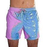 Costume da Bagno Uomo Cambia Colore Pantaloncini Mare Uomo Costumi da Bagno Short Mare Costume a Pantaloncino Uomo Pantaloncini Spiaggia Surf Piscina Uomo Beach Shorts Men Taglie Forti Blu Viola S