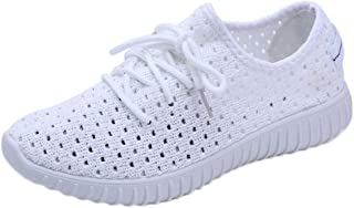 Fashion Ladies Women Casual Comfortable Gym Running Breathable Women Outdoor Mesh Casual Lace Up Comfortable Running Sports (Color : White, Size : 3.5 UK)