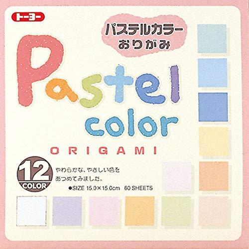 Toyo Origami, Pastel Color 15cm x 15cm 12 Colors 5 Each (001018)