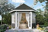 SKAN HOLZ Pavillon Almelo 28 mm, Gartenhäuser, schiefergrau, 303 x 350 x 354 cm