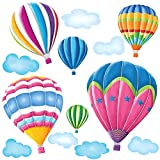 DW-1301AC Hot Air Balloons Wall Sticker