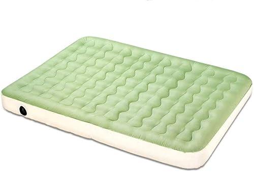 L-SLWI Matelas à air extérieur Double épaisseur Domestique - lit Gonflable Oxford en PVC, écologique,vert
