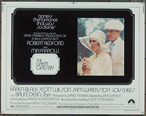 The Great Gatsby (1974) Original Movie Poster at Amazon's Entertainment  Collectibles Store