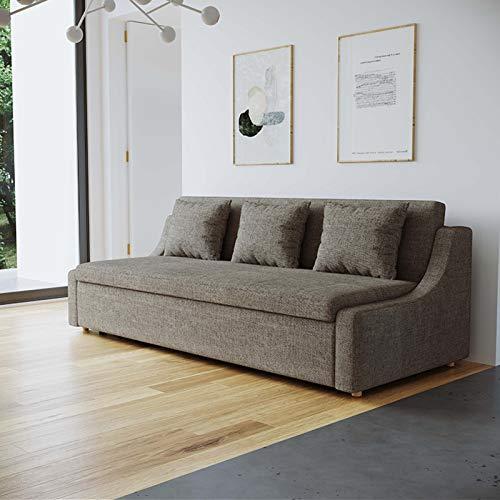 FYHpet Sofá Cama de Terciopelo Suave Compacto con Durmiente de extracción, sofá Cama de 2 en 1 Plegado multifunción, sofá Cama de Madera Simple, pequeño salón, Sentado, durmiendo, Doble Uso