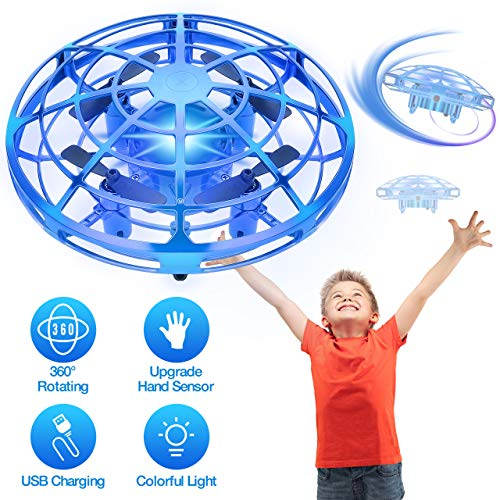 ATOPDREAM Spielzeug ab 5-12 Jahren für Jungen, Drohnen Geschenk für Mädchen 5 6 7 8 9 10 Jahre Kinder Spielzeug ab 5-12 Jahre Geschenke für Kinder ab 5-12 Gartenspielzeug für Kinder Hubschrauber Blau