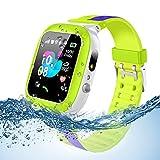 Smooce Kinder Smartwatch Telefon Uhr,wasserdichte Kid Smart Watch für Jungen Mädchen mit LBS Tracker SOS Anruf Kamera Anti-Lost Voice Chat (Green) (Green)