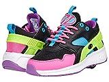 HEELYS Girl's Force (Little Kid/Big Kid/Adult) Black/Neon Pink/Cyan/Neon Yellow 8 Women's M