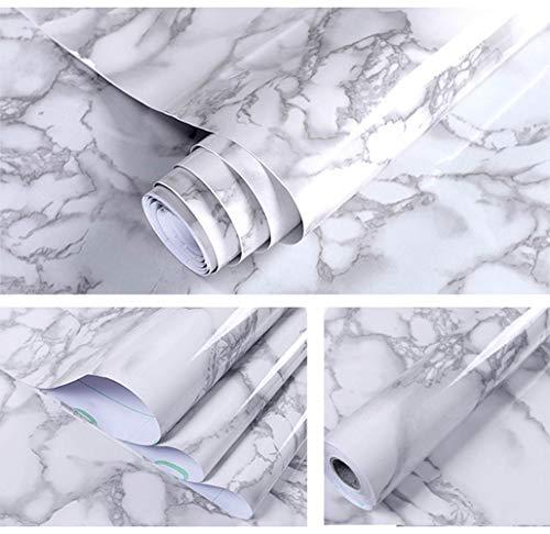 ASFINS Papel Adhesivo Marmol, 40cm x 10m Papel Marmol Rosado Pegatina Muebles de Cocina Vinilo Decoracion Papel Marmol Papel para la Cocina Encimera Oficina de Baño (M04)