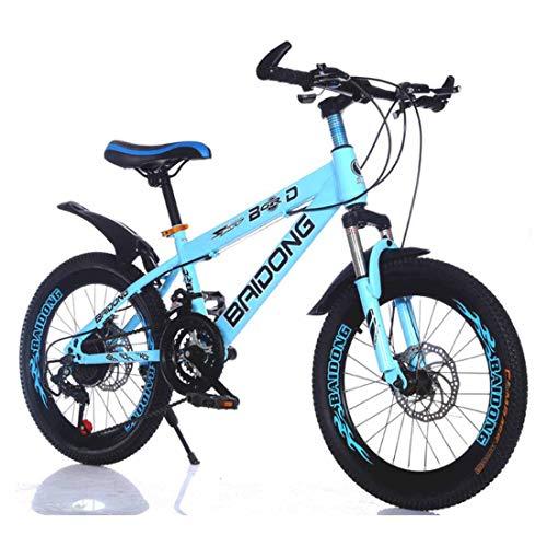 MUYU Kids Mountainbike 20 inch (22 inch) Koolstofstaal Frame 21-Speed Road Fiets