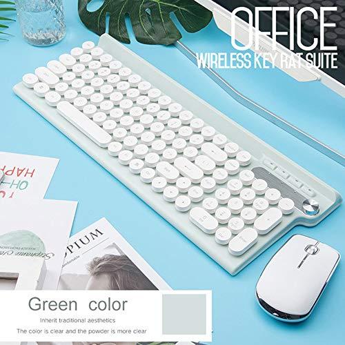 XYQ 2.4G USB Draadloze Toetsenbord Muis voor Macbook Asus Dell Laptop Toetsenbord Oplaadbare Toetsenbord Muis * Wit/Geel/Zwart Tricolor, Wit