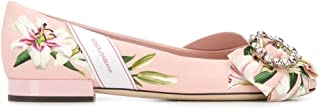 DOLCE E GABBANA Luxury Fashion Womens CB0147AA137HFKK8 Pink Flats | Fall Winter 19