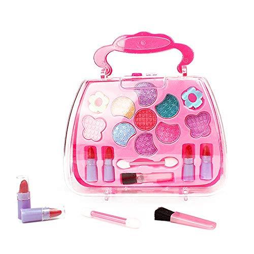 SH doen alsof spelen make-up speelgoed, nep make-up set doen alsof cosmetische set voor kinderen kinderen, schoonheid cosmetische set doos met accessoires Tote Case voor meisjes peuters