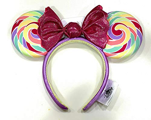 Disney Parks Minnie Mouse Lollipop Ears Swirl Candy Bow Headband Ears