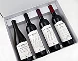 Estuche de Vino 4 Botellas de Vinos Tintos y Blanco - Albillo Real 2019, Senda 2018, Initio 2013 y Las Luces 2010 - D.O. Vinos de Madrid - Selectas Variedades - Bodega Las Moradas de San Martín