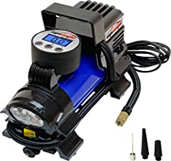 Convenience: Plug directly into Cigarette Lighter Socket of your Vehicle. 12VDC, 10 to 15 amps, 120 to 180W. Equipped with 12V-DC Cigarette Lighter Socket Plug, NOT 110V AC plug. Multiple Uses: Inflate tires on cars, bikes, sedan and midsize SUV. (En...
