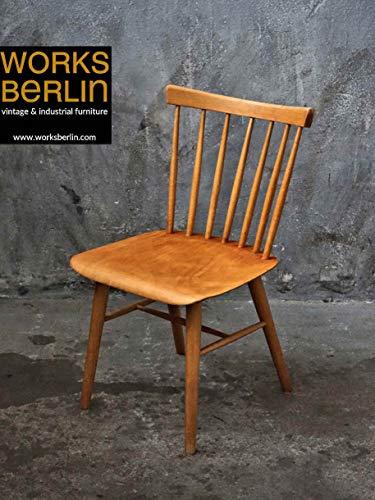 Vintage Holzstuhl mit Lehne - TON Ironica 50er Jahre