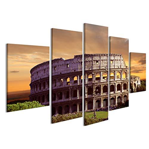 islandburner Cuadro Cuadros Impresión sobre Lienzo - Formato Grande - Cuadros Modernos Coliseo de Roma