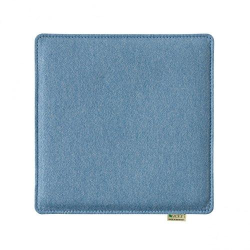 Violan Sitzkissen quadratisch, Ice-Blue