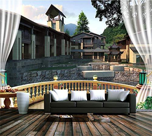 Muurschildering achtergrondfoto aangepaste fotobehang voor muren 3D voor woonkamer wooncultuur natuurals landschap muurschildering Chinese Woods Tree behang, aFcvs41