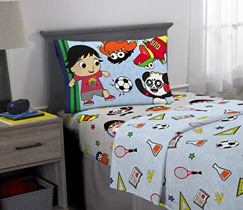 Franco Kids Bedding Super Soft Microfiber Sheet Set, 3 Piece Twin Size, Ryan's World
