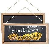 SAND MINE 2 Pack Vintage Framed Chalkboard Sign with Hanging String, Decorative Chalk Boar...