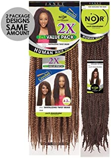 Noir 100%kanekalon 2x Tantalizing Twist Braid Crochet Interlocking 1b/30