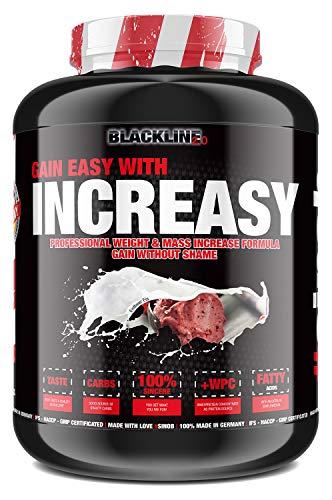 sinob Increasy Weight Gainer Erdbeer Eis 1 x 3500g. Whey Protein und Kohlenhydrate Pulver für schnelle Gewichtzunahme. Optimal für Muskelaufbau und Masseaufbau.