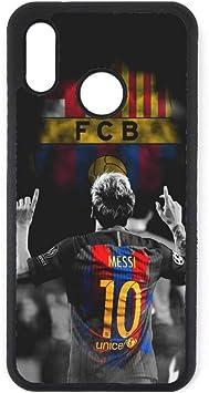 coque-personnalisable Coque pour Huawei P8 Lite 2017 Lionel Messi 10 FC Barcelone Foot - Caoutchouc ou Plastique Semi-Rigide Contour Noir (Huawei P8 ...