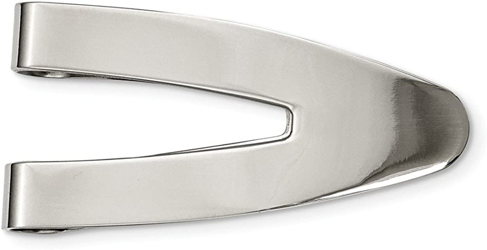 Stainless Steel Polished Money Clip (25mm x 50mm)