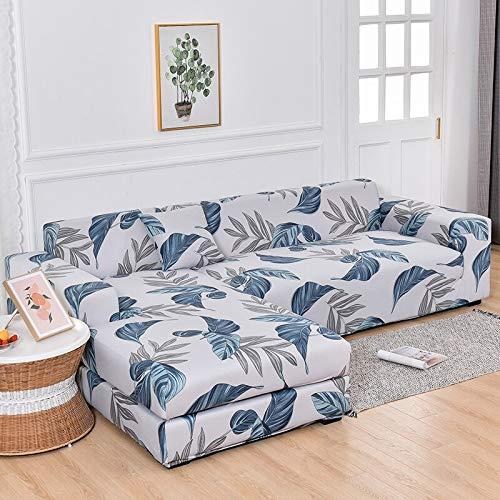 Fundas de sofá en Forma de L para Sala de Estar Fundas de sofá elásticas Funda de sofá Funda de sofá de Esquina elástica Chaise Longue A22 3 plazas