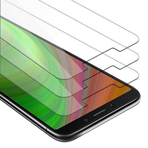 Cadorabo 3X Panzer Folie für Xiaomi RedMi 6A - Schutzfolie in KRISTALL KLAR - 3er Pack Gehärtetes (Tempered) Bildschirm-Schutzglas in 9H Festigkeit mit 3D Touch Kompatibilität