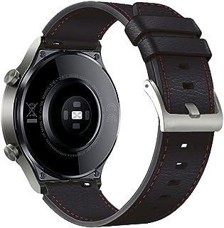TopTen 22 mm klockarmband kompatibelt med HUAWEI WATCH GT2 Pro/GT 2e/GT 46mm/GT2 46mm/GT Active/Watch 2 Pro rem, läderkloc...