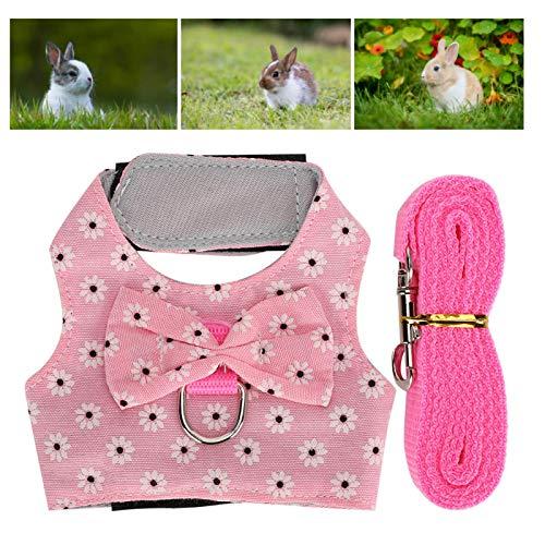 SALUTUYA Mascota Chaleco Arnés Juego de Cables Accesorios para Animales pequeños Hebilla en Forma de D Conejo(S Number)
